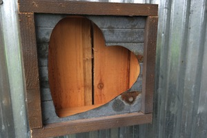 Rustic Hanging Heart Frame